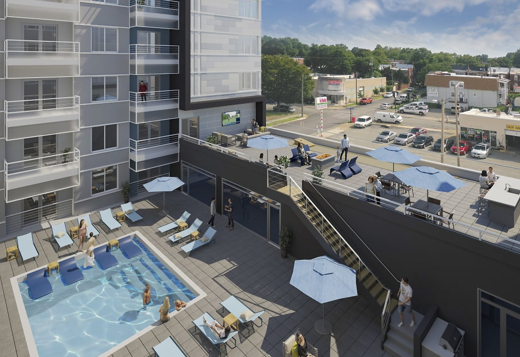 The Summit pool rendering