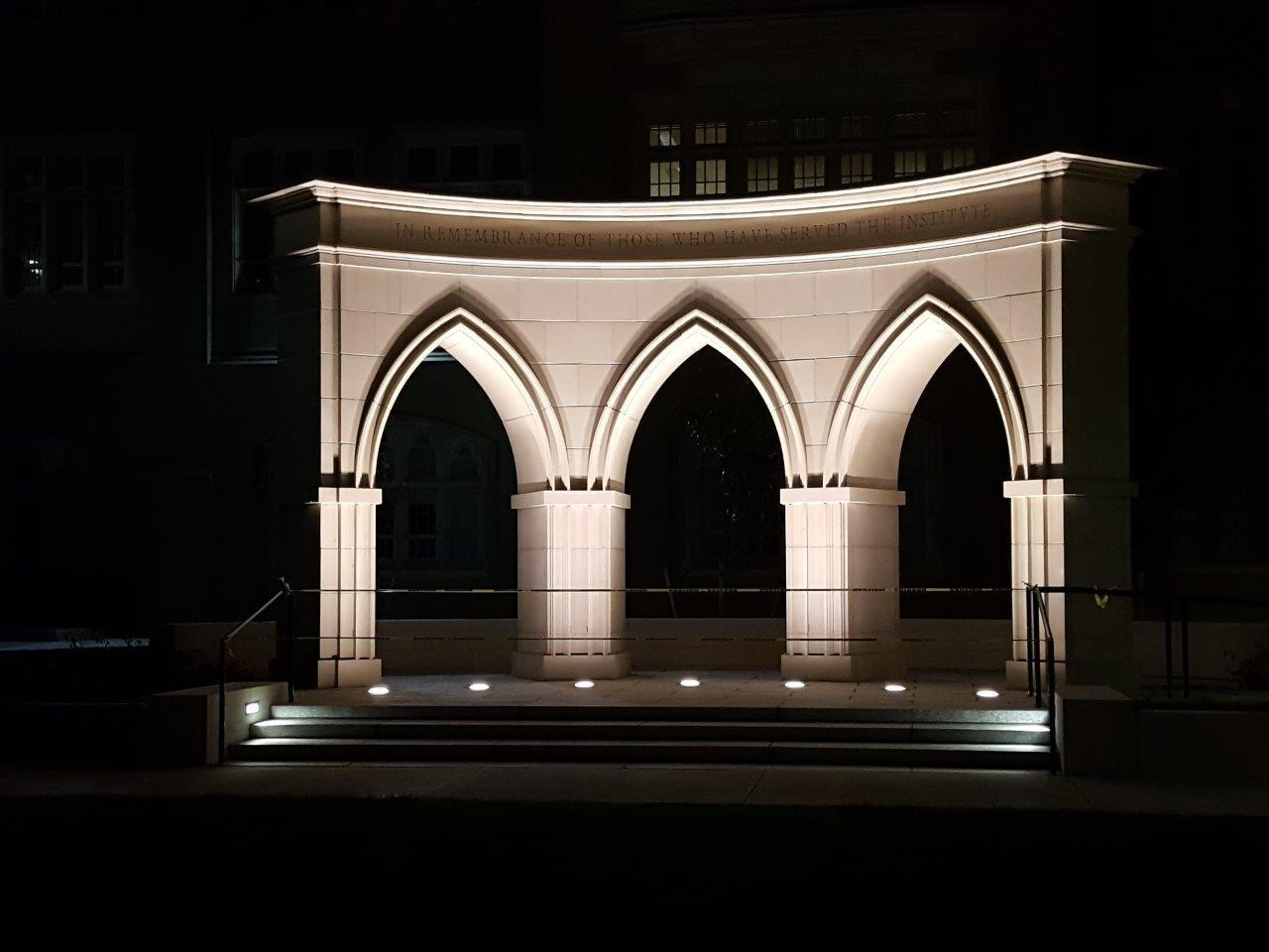 VMI-Arches-at-night